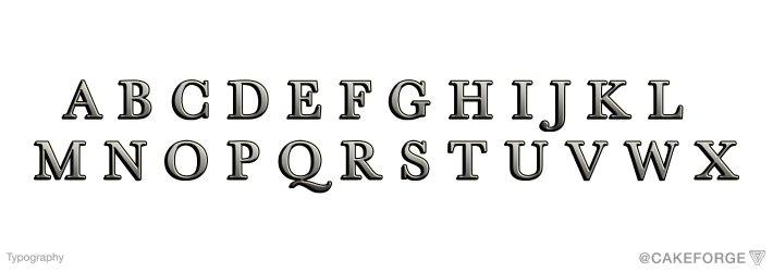 CakeForge-typography