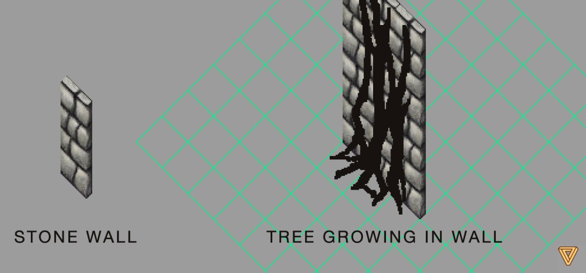 Ultima Online tree growing in wall
