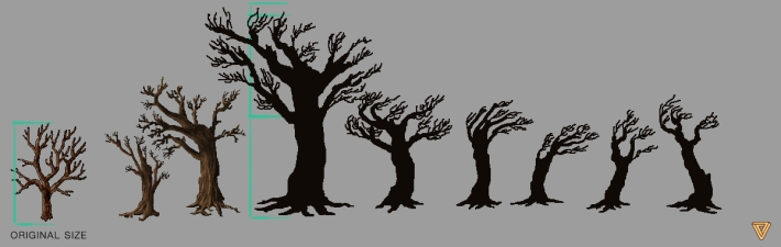 Ultima Online LandFall trees scale