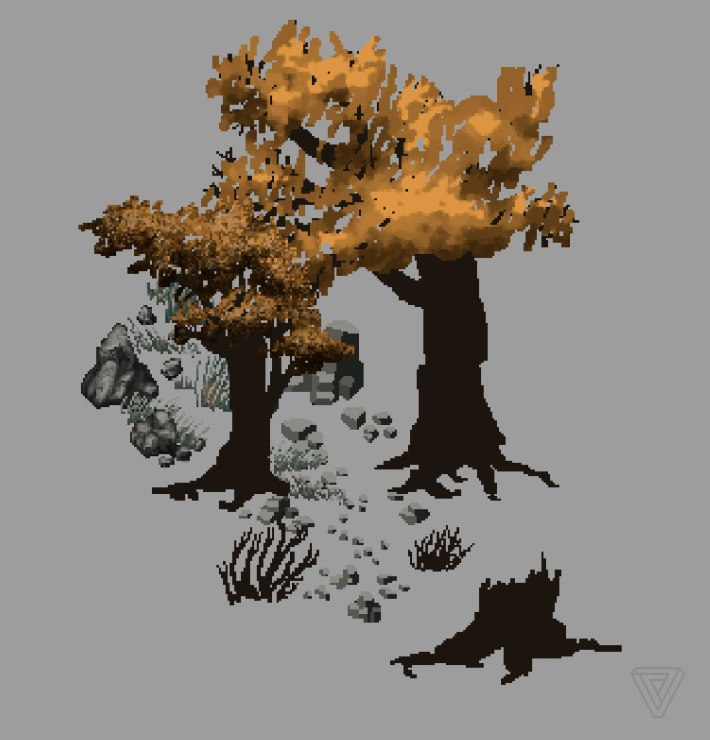 Ultima Online - LandFall trees
