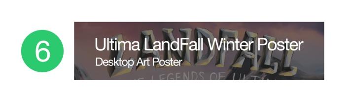 Ultima LandFall Winter Poster
