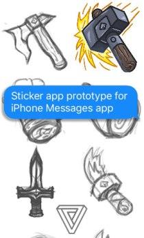 CakeForge iPhone sticker app